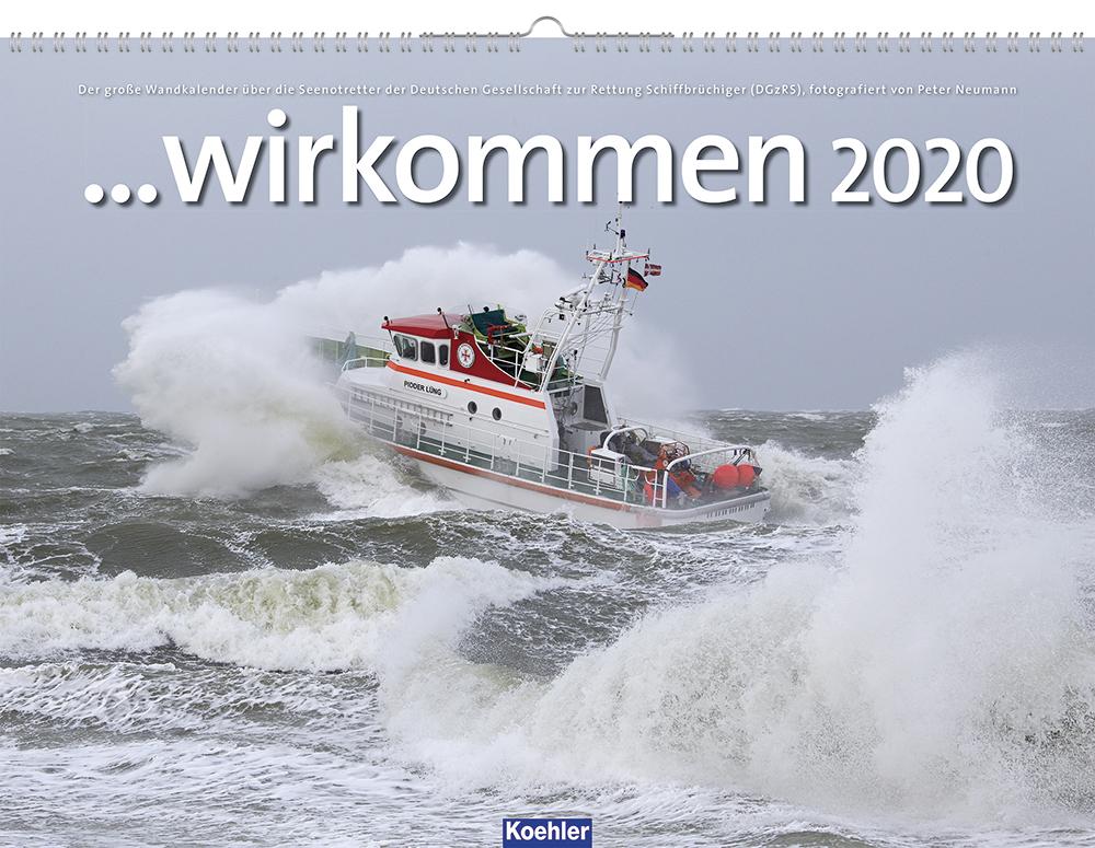 Peter Neumann Kalender wir kommen 2020 DgzRS Seenotretter Cover Download